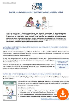 Communiqué de presse SantéBD