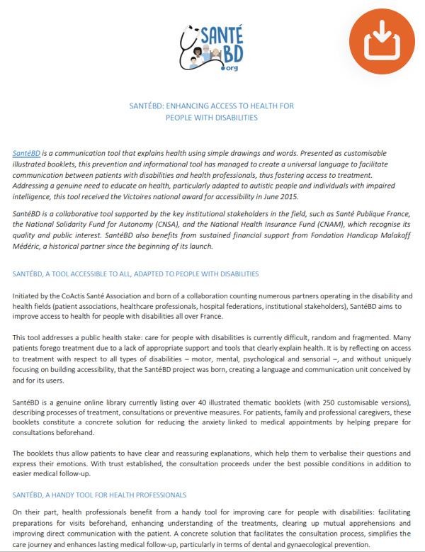 SantéBD Press release