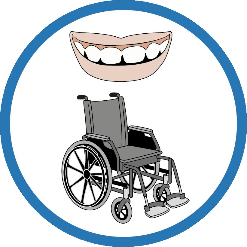 Le dentiste  - L'accueil en fauteuil roulant